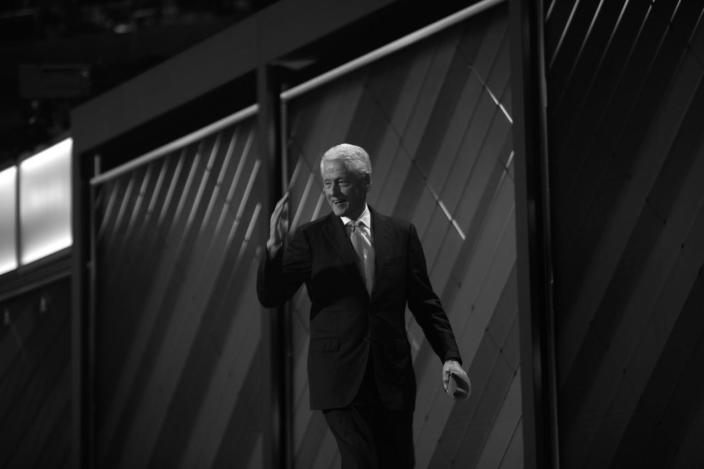 <p>Former President William Jefferson Clinton leaves the stage after speaking at the Democratic National Convention Tuesday, July 26, 2016, in Philadelphia, PA. (Photo: Khue Bui for Yahoo News)</p>