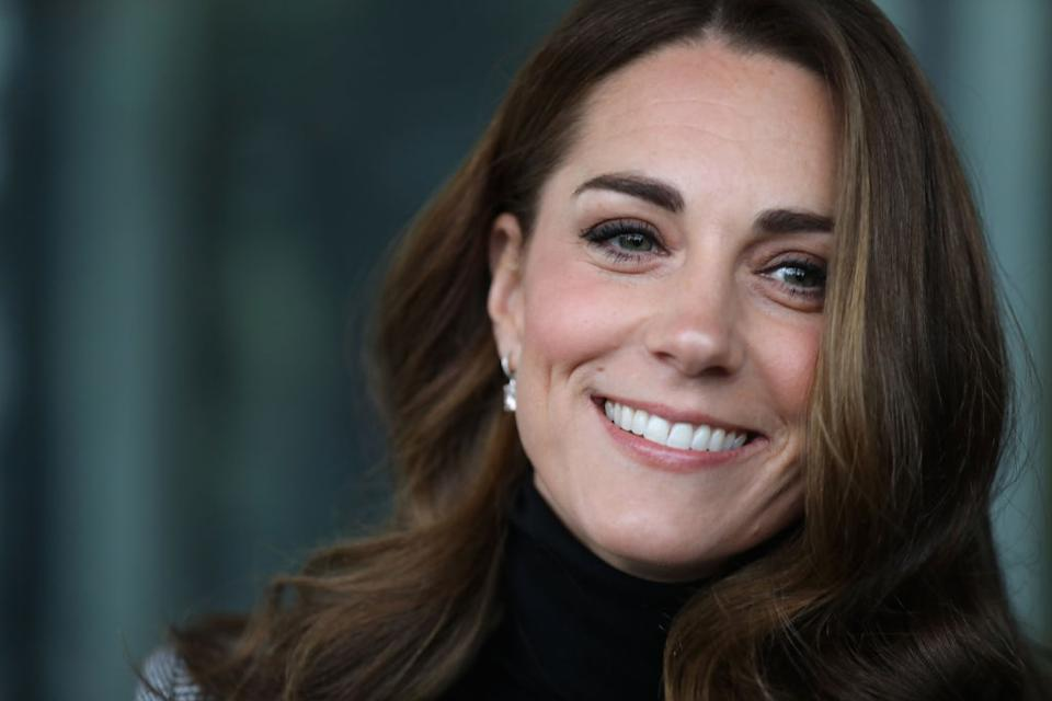 The Duchess of Cambridge normally opts for a bouncy blow-dry, pictured in 2018. (Getty Images)