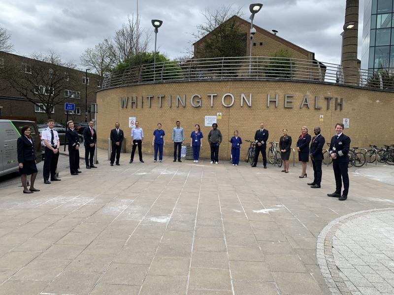 Airline staff brought first class facilities to staff at Whittington Hospital. (NHS)