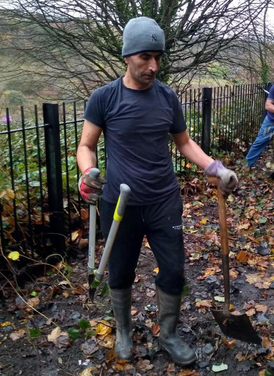 Mumtaz used gardening to help him cope with his mental health condition
