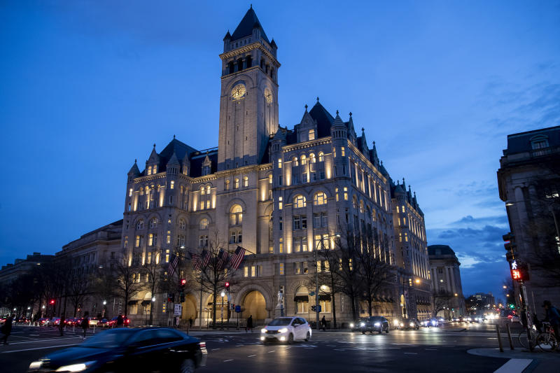 The Trump International Hotel is seen, Wednesday, Jan. 23, 2019, in Washington. (Photo: Alex Brandon/AP)