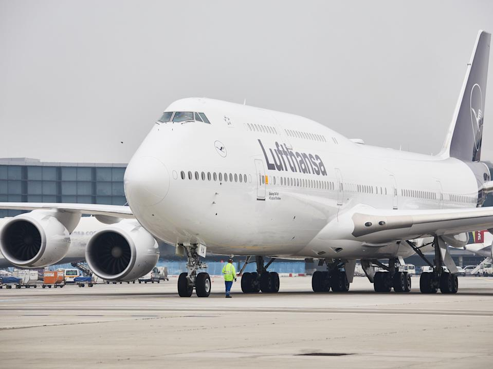 Giant losses: the German national airline lost £13m per day during 2020 (Lufthansa)