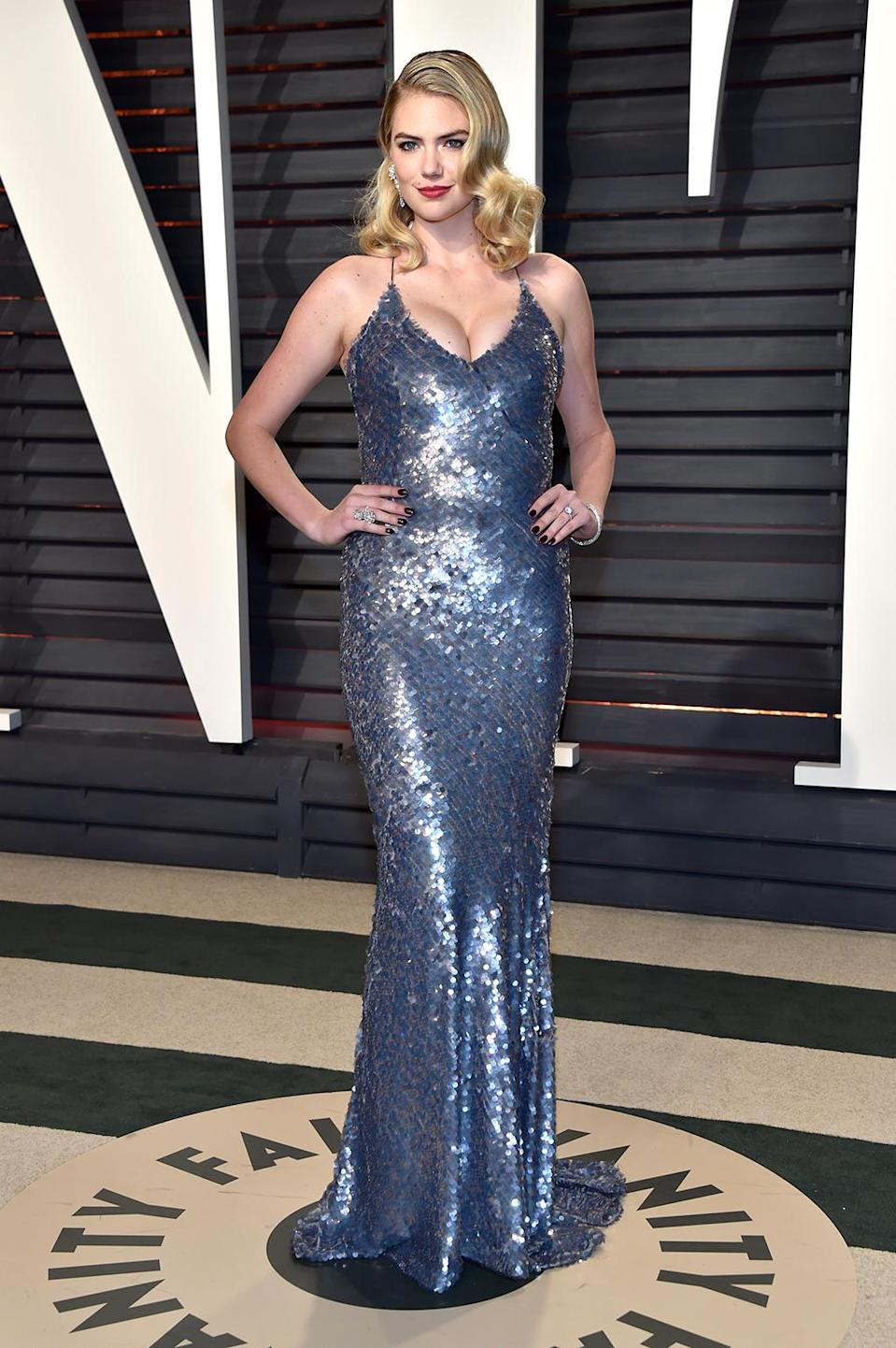 <p>Kate Upton attends the 2017 Vanity Fair Oscar Party hosted by Graydon Carter at Wallis Annenberg Center for the Performing Arts on February 26, 2017 in Beverly Hills, California. (Photo by Pascal Le Segretain/Getty Images) </p>
