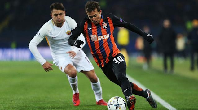 <p>AS Roma returns home for the second leg of the Champions League round of 16 vs. Shakhtar Donetsk, and it has plenty of work to do after a 2-1 loss in Ukraine in the opening leg. </p><p>Cengiz Under's away goal looms large, but Facundo Ferreyra and Fred struck in the second half to tilt the balance to Shakhtar, which went on to rout its next two opponents in the league by a combined 8-0 score. Roma stumbled in the immediate aftermath with a 2-0 loss to Milan, but bounced back nicely to deal Napoli a 4-2 loss, which allowed Juventus to claim first place in the Serie A table. </p><p>It's all on the line at the Stadio Olimpico, where Roma is hoping to join Juventus as Italian teams alive in the final eight of the competition.</p><p>Roma came out on the front foot, but it was Shakhtar that nearly opened the scoring–though it came from a Roma player. Alessandro Florenzi came close to turning in an own goal at the 10-minute mark, one that would have been a crippling blow to Roma's comeback hopes.</p><p>Roma forced Shakhtar goalkeeper Andriy Pyatov into action in the 24th minute, with Diego Perotti and and Aleksandar Kolarov combining down the left before the latter fired in a cross to the near post. Edin Dzeko was lingering in the right spot, but Pyatov went to ground and punched away the danger before the Bosnian forward could capitalize.</p><p>Kolarov sent in another dangerous ball at the half-hour mark, sending an inviting cross through the box, with no teammate there to meet it.</p><p>Roma got its breakthrough at the start of the second half. It came through Dzeko, who beat the offside trap to run onto Kevin Strootman's ball over the top, then poked home a low goal through the onrushing Pyatov to set off celebrations at the Olimpico.</p><p><em>Stay tuned here for live updates and highlights of goals and key plays from throughout the match (refresh for most recent updates).</em></p><p>Here are the lineups for both teams:</p><p>The Champions League round of 16 complet