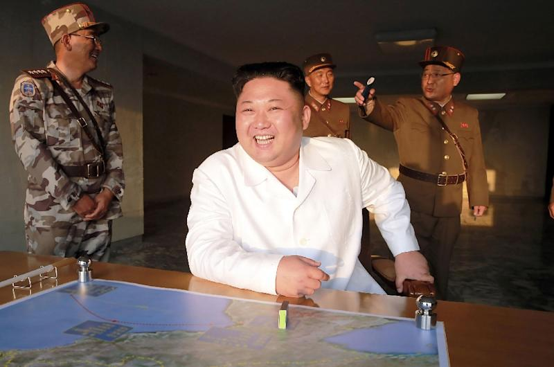 Pyongyang has ramped up its missile and nuclear test programme since Kim Jong-Un came to power after the death of his father in 2011 (AFP Photo/STR)