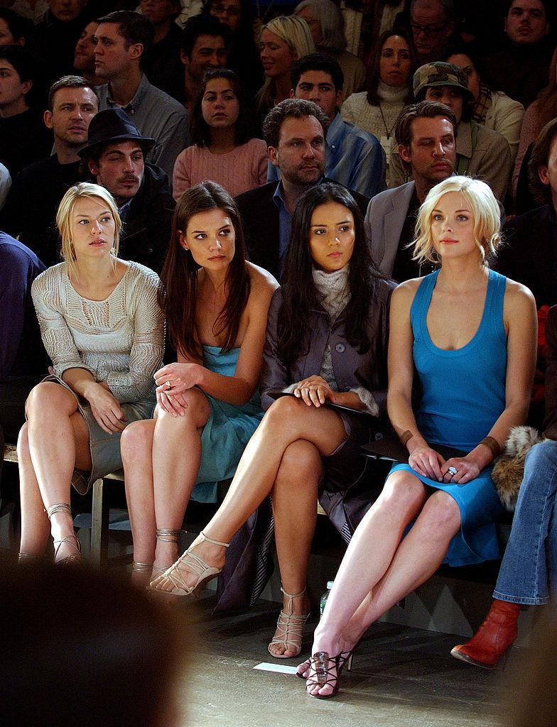 <p>Claire Danes, Katie Holmes, Catalina Sandino Moreno and Jaime King. <i>(Bryan Bedder/Getty Images)</i> </p>