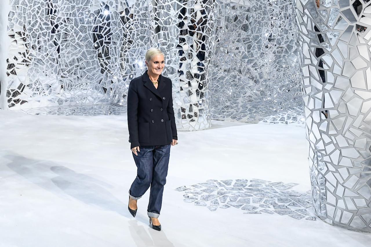 "<p>The first female creative director of Dior is set to be given the Swarovski Award for Positive Change. Introduced for the first time in 2016, the accolade celebrates individuals who have made a positive impact on society, the environment or both. Maria Grazia Chiuri was selected for her continued efforts towards women's empowerment in the fashion industry. ""This recognition sends a powerful message to all women battling on a daily basis,"" the modern feminist icon said. <i>[Photo: Getty]</i> </p>"