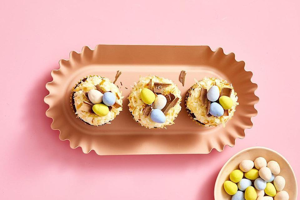 """<p>Sweets — baked goods, <a href=""""https://www.goodhousekeeping.com/holidays/easter-ideas/g1034/easter-chocolate-eggs/"""" rel=""""nofollow noopener"""" target=""""_blank"""" data-ylk=""""slk:chocolate eggs"""" class=""""link rapid-noclick-resp"""">chocolate eggs</a>, and festive candies — come out in full force on Easter Sunday. Marshmallow Peeps and jelly beans may be Easter basket staples, but Cadbury eggs — either the cream-filled or mini version — are the true standouts of the season. With a smooth, creamy filling housed in a crisp, chocolate shell, these chocolates are one of the <a href=""""https://www.goodhousekeeping.com/holidays/easter-ideas/g2367/easter-candies/"""" rel=""""nofollow noopener"""" target=""""_blank"""" data-ylk=""""slk:most popular Easter candies"""" class=""""link rapid-noclick-resp"""">most popular Easter candies </a>on the market. They're delicious on their own (especially when enjoyed by the handful), but they really come to life when they're stuffed inside a brownie, melted on a cookie, or crushed in a milkshake. </p><p>Convinced? Take a look at these easy Cadbury egg recipes to find out all the different ways you can transform these chocolate candies into <a href=""""https://www.goodhousekeeping.com/holidays/easter-ideas/g26557097/easy-easter-desserts/"""" rel=""""nofollow noopener"""" target=""""_blank"""" data-ylk=""""slk:Easter desserts"""" class=""""link rapid-noclick-resp"""">Easter desserts </a>that your entire family will love. Some of these <a href=""""https://www.goodhousekeeping.com/holidays/easter-ideas/g4141/easter-treats/"""" rel=""""nofollow noopener"""" target=""""_blank"""" data-ylk=""""slk:Easter-appropriate treats"""" class=""""link rapid-noclick-resp"""">Easter-appropriate treats</a> use Cadbury eggs as a cake topper or finishing touch, while others incorporate them right into the cookie, cupcake, or brownie mix. As you bake these sweets, it'll be hard to resist sneaking a few chocolate eggs, so make sure you pick up a few extra bags before you get to work! <br></p>"""