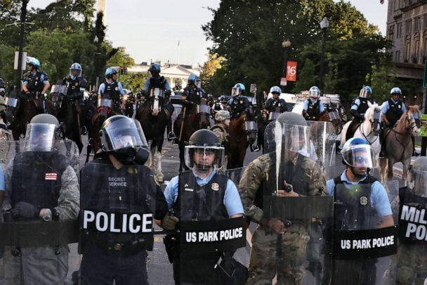 PHOTO: Police block 16th Street in Washington, D.C., near the White House, June 1, 2020. (The Washington Post via Getty Images, FILE)