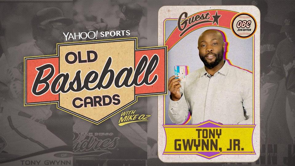 "Tony Gwynn Jr. on ""Old Baseball Cards."" (Yahoo Sports)"