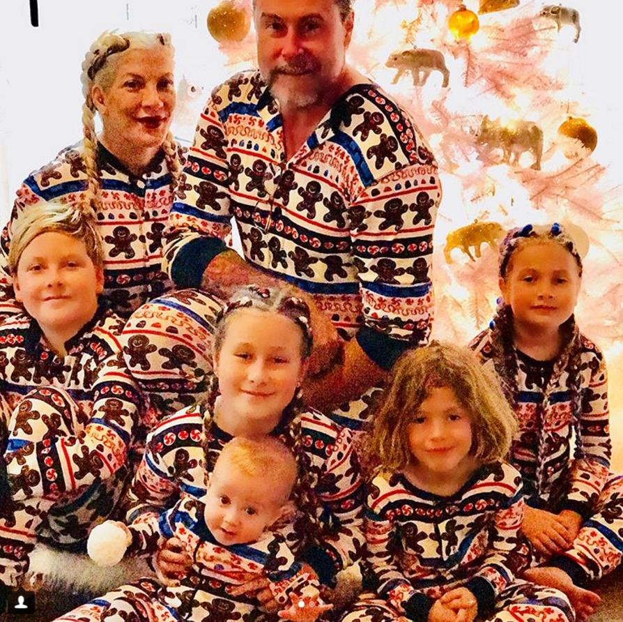 3459b30597 <p>Tori Spelling and Dean McDermott's entire family of seven — the spouses  plus