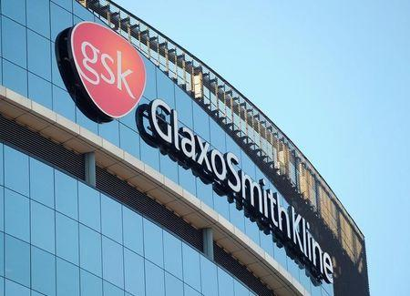File photo of a GlaxoSmithKline logo outside one of its buildings in west London