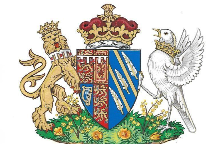 """<p>Before a woman marries into the royal family, her father traditionally receives a royal coat of arms that's then extended to her entire family. However, because Meghan is estranged from her father, Thomas Markle, and he didn't attend the wedding, <a href=""""https://www.royal.uk/her-royal-highness-duchess-sussex-coat-arms"""" rel=""""nofollow noopener"""" target=""""_blank"""" data-ylk=""""slk:the palace announced"""" class=""""link rapid-noclick-resp"""">the palace announced</a> that the coat of arms was created specifically for Meghan. </p>"""