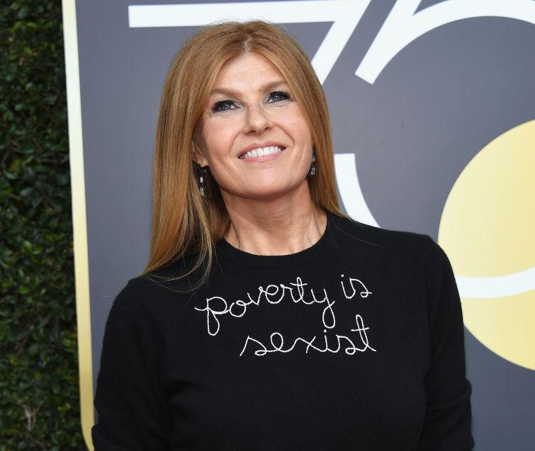 """This is why Connie Britton's Golden Globes look says """"poverty is sexist"""""""