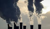 FILE PHOTO: Steam rises from chimneys on a cold day in Moscow
