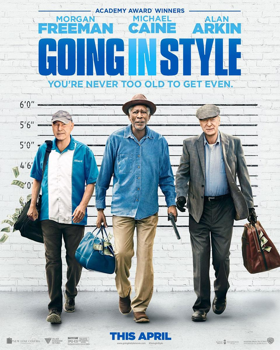 <p>You could get Alan Arkin, Morgan Freeman and Michael Caine to star in your movie but you couldn't get them to appear in the same room together for a photoshoot? They also appear to be in mid-stride, despite being positioned right in front of a brick wall, the kind this poster makes you want to bash your head against. </p>