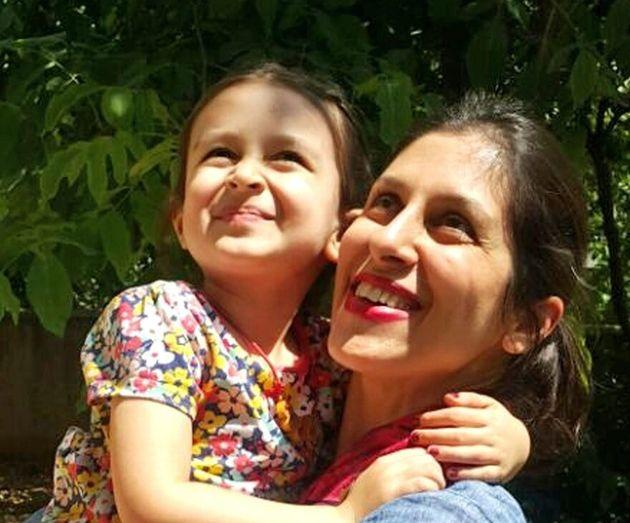 Nazanin Zaghari-Ratcliffe and her daughter Gabriella before her imprisonment.