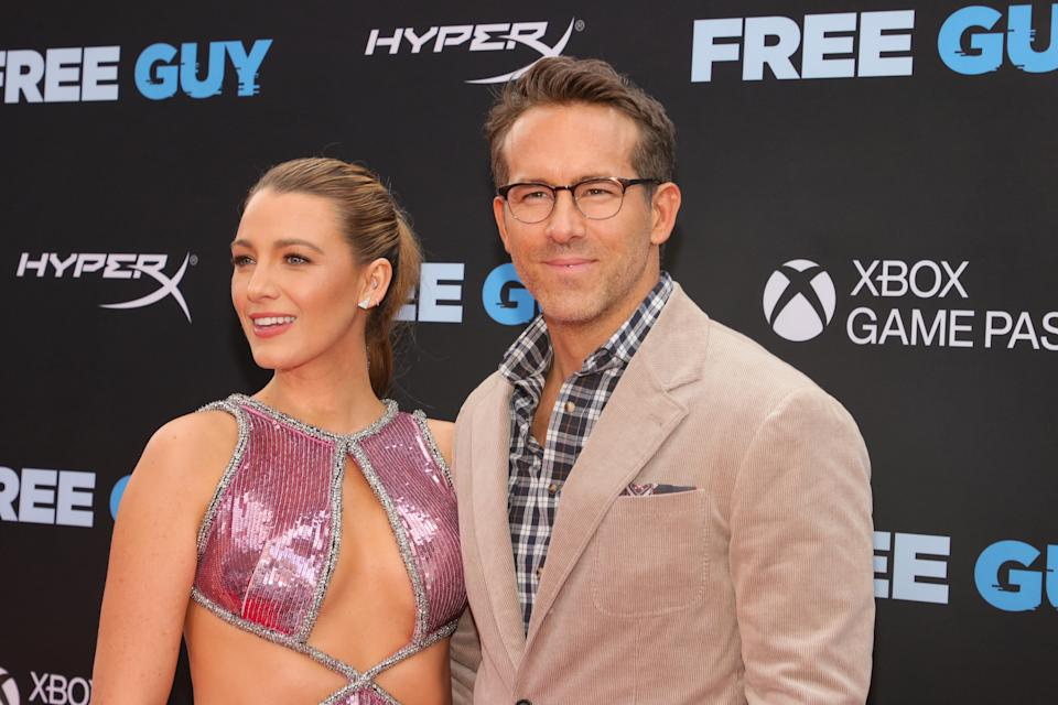 Blake Lively and Ryan Reynolds attend the World Premiere of 20th Century Studios'