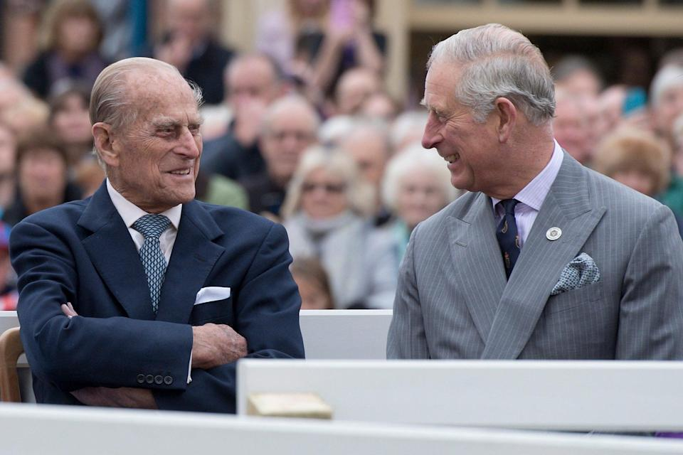 <p>Line of duty: Philip with Charles in 2016</p> (Getty Images)