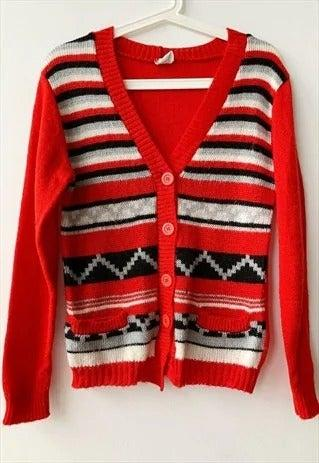 """<br><br><strong>ASOS, ASOS Marketplace</strong> Knit Christmas Cardigan, $, available at <a href=""""https://marketplace.asos.com/listing/cardigans/vintage-50s-folk-countryside-knit-christmas-cardigan-jumper/5916778?queryID=21bbd1375a2c313c99de943a857f05da&index=Products&objectID=5916778&fromSearchTerm=cardigan"""" rel=""""nofollow noopener"""" target=""""_blank"""" data-ylk=""""slk:ASOS, asos marketplace"""" class=""""link rapid-noclick-resp"""">ASOS, asos marketplace</a>"""