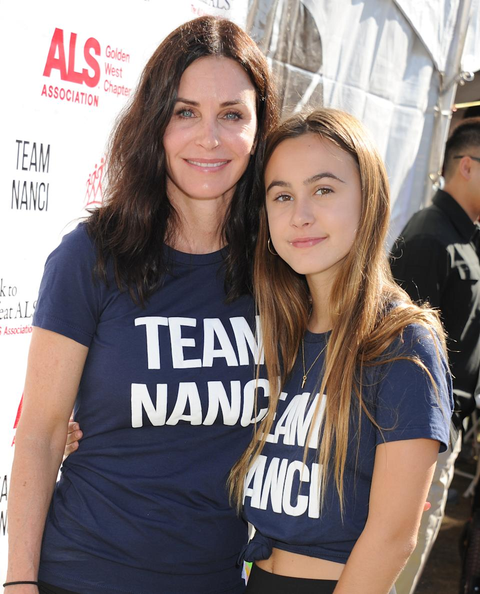 Courteney Cox and daughter Coco covid household scare