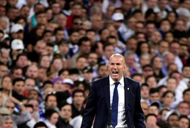 O técnico do Real Madrid, Zinedine Zidane, em Madri, em 23 de abril de 2017