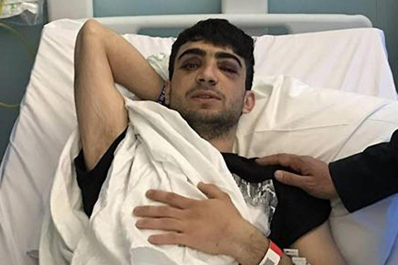 Reker Ahmed in hospital following the attack