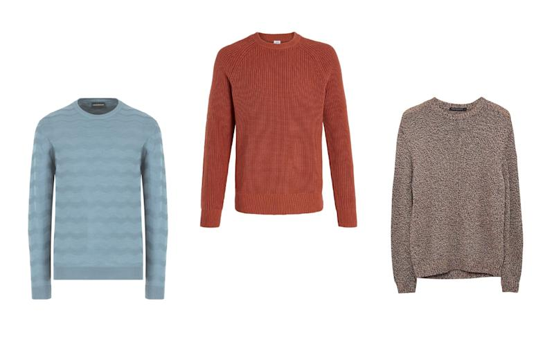 Easy-to-wear knits are perfect for making your way between summer and autumn