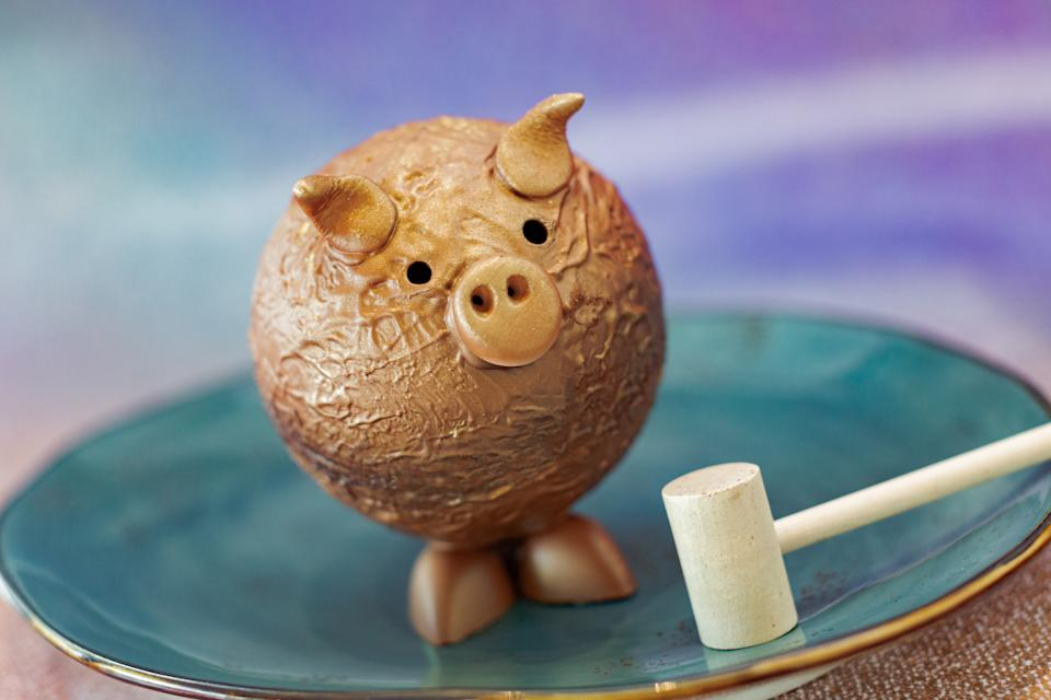 This shimmery pig piñata is available at Disney Springs and serves two. (Photo: Walt Disney World Resort)