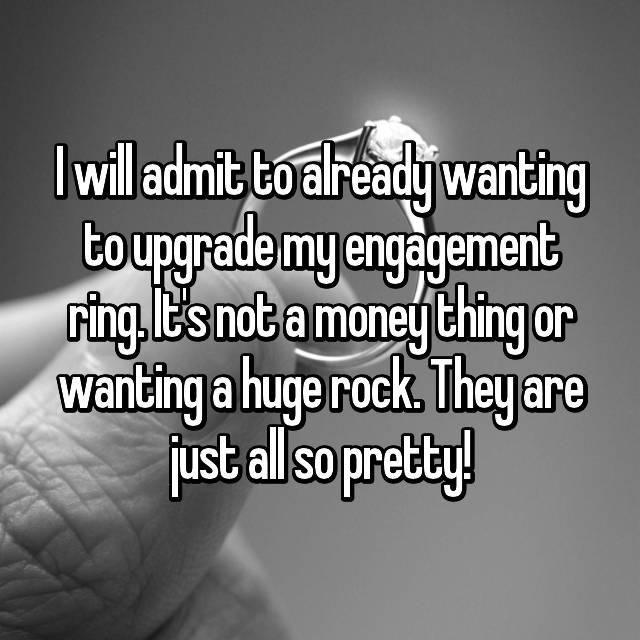 Many have upgraded their rings with their partner's blessing. Photo: Whisper.com