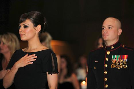 Mila Kunis Attends Marine Corps Ball With Sgt. Scott Moore