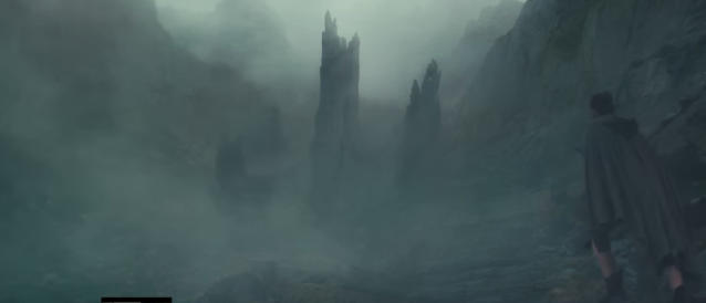 Rey approaches a gnarled tree shrouded in mist. (Photo: Lucasfilm)