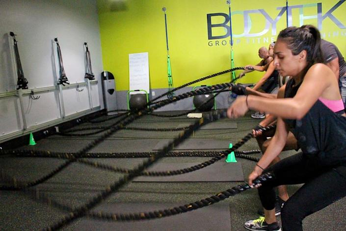 "<b>Photo: bodytek fitness Wynwood/<a href=""https://yelp.com/biz_photos/bodytek-fitness-wynwood-miami-5?utm_campaign=7b650908-71ec-482e-9e8c-e9332463c736%2C04592143-cd78-41e4-b1a7-3c50400e9c9b&utm_medium=81024472-a80c-4266-a0e5-a3bf8775daa7"" rel=""nofollow noopener"" target=""_blank"" data-ylk=""slk:Yelp"" class=""link rapid-noclick-resp"">Yelp</a></b>"