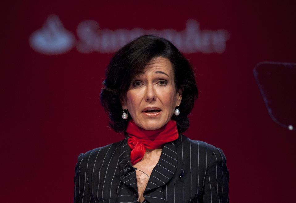 Santander executive chairman Ana Botin. Photo: Alvaro Barrientos/AP