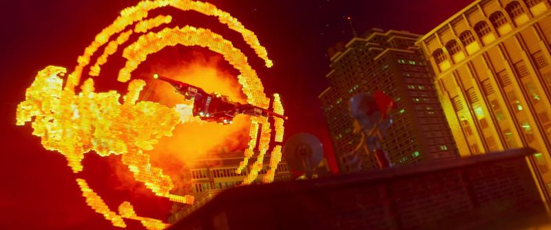 Lego explosions in The Lego Batman Movie. (Warner Bros Pictures)