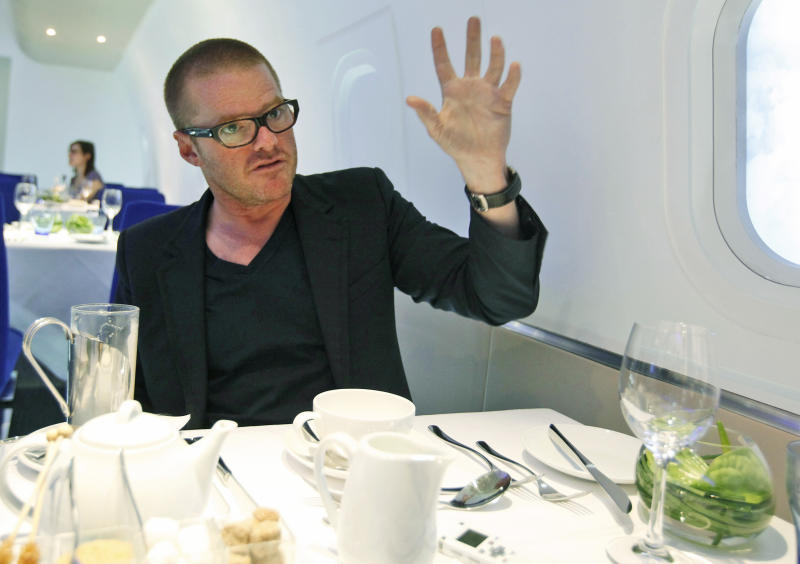 Heston Blumenthal doesn't want to create a barrier between diners and staff. (AP Photo/Alastair Grant, File)