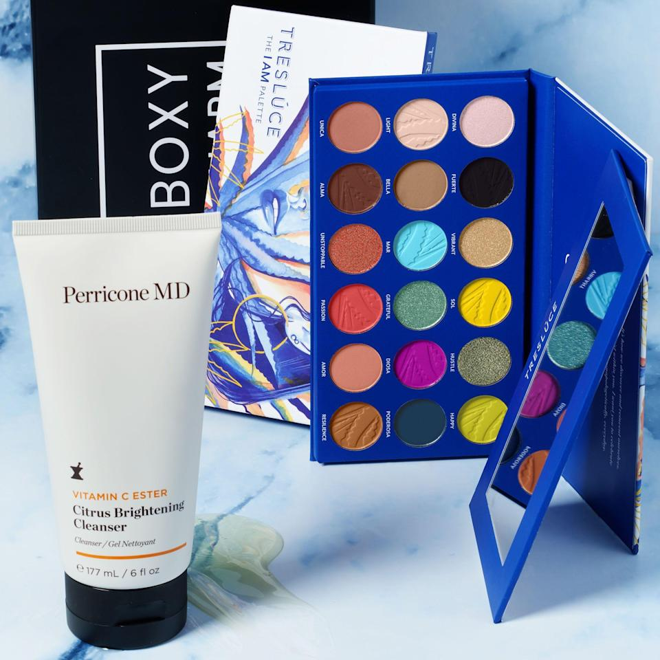 """<p><strong>BoxyCharm</strong></p><p>boxycharm.com</p><p><strong>$25.00</strong></p><p><a href=""""https://www.boxycharm.com/subscribe/gift-with-purchase"""" rel=""""nofollow noopener"""" target=""""_blank"""" data-ylk=""""slk:Shop Now"""" class=""""link rapid-noclick-resp"""">Shop Now</a></p><p>Speaking of Treslúce, the brand has teamed up with BoxyCharm for Hispanic Heritage Month. BoxyCharm is a subscription service that offers five full-sized beauty products every month. Their base subscription is only $25 a month, and because you get over $100 worth of products, it's definitely a steal. For October, BoxyCharm is including Treslúce products in their lineup so get it while it's hot!</p>"""