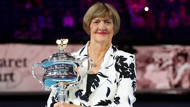 The 50th anniversary of her Grand Slam being celebrated, controversial Margaret Court received applause at the Australian Open.