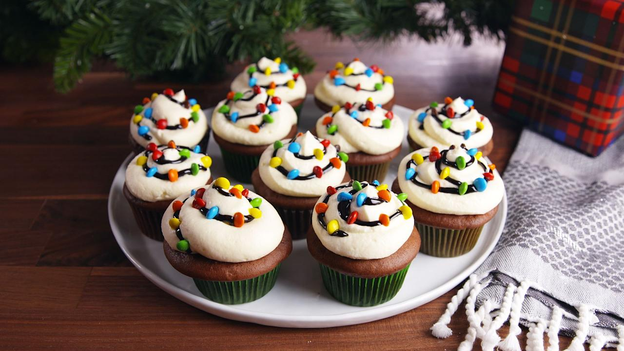 """<p>Deck the cupcakes with tubs of frosting, falalalala....</p><p>Christmas cookies get all the love, but we're here for Christmas cupcakes, too, especially when they're as cute as these. Continue the celebration with our <a href=""""/holiday-recipes/christmas/g1307/christmas-cakes/"""">best Christmas cakes</a>, <a href=""""http://www.delish.com/holiday-recipes/christmas/g2177/easy-christmas-cookies/"""">Christmas cookies</a>, and more <a href=""""/holiday-recipes/christmas/g47/best-christmas-desserts/"""">easy Christmas dessert recipes</a>.</p>"""