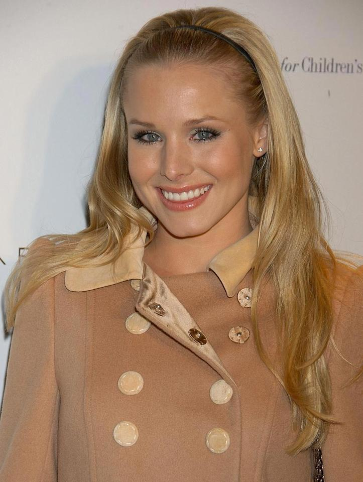 Kristen Bell arrives at the Elie Tahari Boutique Opening at Saks Fifth Avenue.