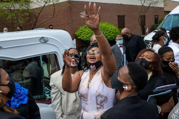 PHOTO: Paula Bryant, center, releases a butterfly in honor of her daughter, Ma'Khia Bryant, following the funeral for 16-year-old at the First Church of God in Columbus, Ohio, April 30, 2021. (Gaelen Morse/Reuters)