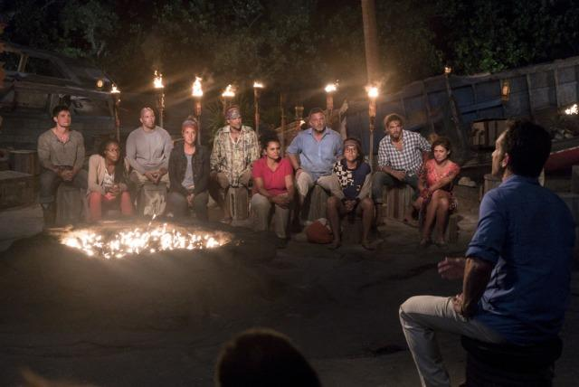 Mana tribe at first Tribal Council on Survivor: Game Changers