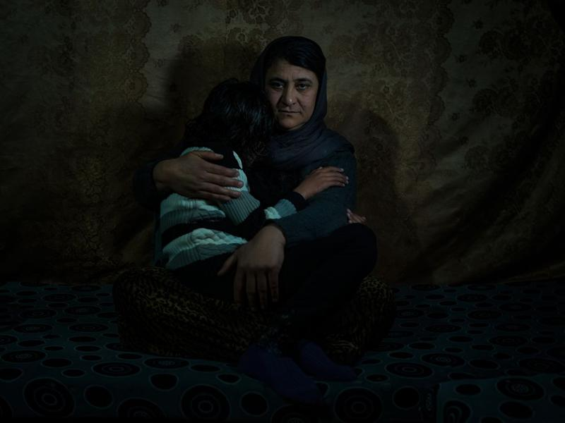 Sairan Khalaf speaks Kurdish; her daughter, 11, knows only Arabic after three years of captivity. | Newsha Tavakolian—Magnum Photos for TIME