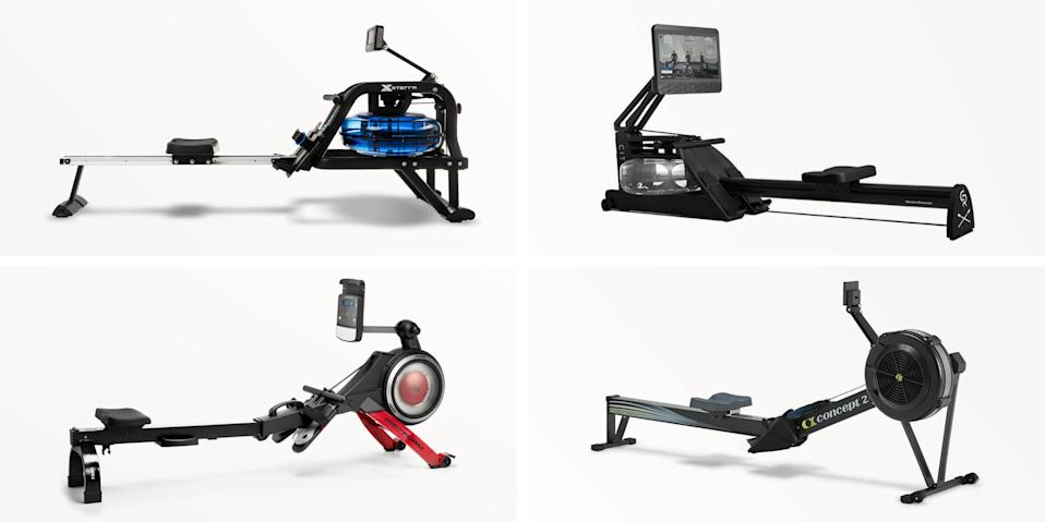 """<p>Indoor rowing is an effective low-impact exercise that combines both cardio and strength in each workout. And contrary to what some believe about it being an upper-body-focused workout because you're pulling a handle, rowing is actually a full-body routine that engages the legs, back, glutes, arms, core, and more. </p><p>In fact, a study published in <a href=""""https://insights.ovid.com/crossref?an=00005768-200803000-00026"""" rel=""""nofollow noopener"""" target=""""_blank"""" data-ylk=""""slk:Medicine & Science in Sports & Exercise"""" class=""""link rapid-noclick-resp""""><em>Medicine & Science in Sports & Exercise</em></a> found that rowing machines actually engage 86 percent of the muscles in your body—which is more than most exercises do. It's the perfect cross-training tool for runners, too, because it's low impact. (If you've never tried rowing before, it's easy to do and can be learned in just minutes. Here's <a href=""""https://www.runnersworld.com/training/a28525986/how-to-use-a-rowing-machine/"""" rel=""""nofollow noopener"""" target=""""_blank"""" data-ylk=""""slk:how to do it correctly with proper form"""" class=""""link rapid-noclick-resp"""">how to do it correctly with proper form</a>.) Plus, if you're not comfortable <a href=""""https://www.runnersworld.com/training/a33011385/is-it-safe-to-go-to-the-gym-coronavirus/"""" rel=""""nofollow noopener"""" target=""""_blank"""" data-ylk=""""slk:going back to the gym yet due to coronavirus concerns"""" class=""""link rapid-noclick-resp"""">going back to the gym yet due to coronavirus concerns</a>, a rower is a great option for those who want to work out from the comfort and safety of their own home, since most can be folded or pushed away for easy storage.</p><p>Whether you're a purist who wants to hear the swoosh of water as you row or a group-class junkie who prefers pop music and instruction, there's an indoor rower out there for you. Here are some of our favorites, each with unique features and details. Choose one that fits your specific workout wants and needs.</p>"""