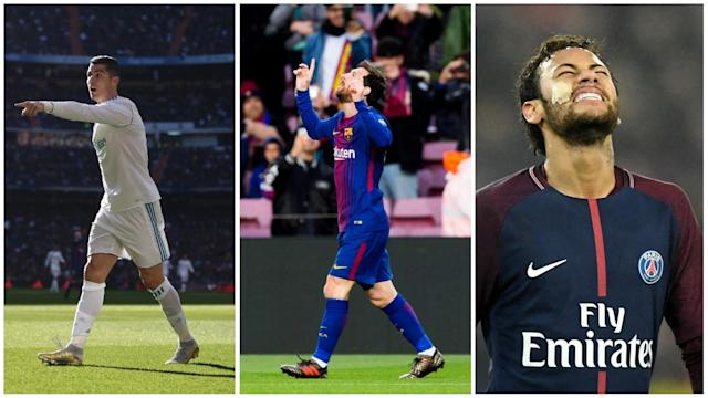 Talismanic figures at Barcelona and Real Madrid make the cut, but for the second year in a row the selection has no place for PSG's Brazilian star