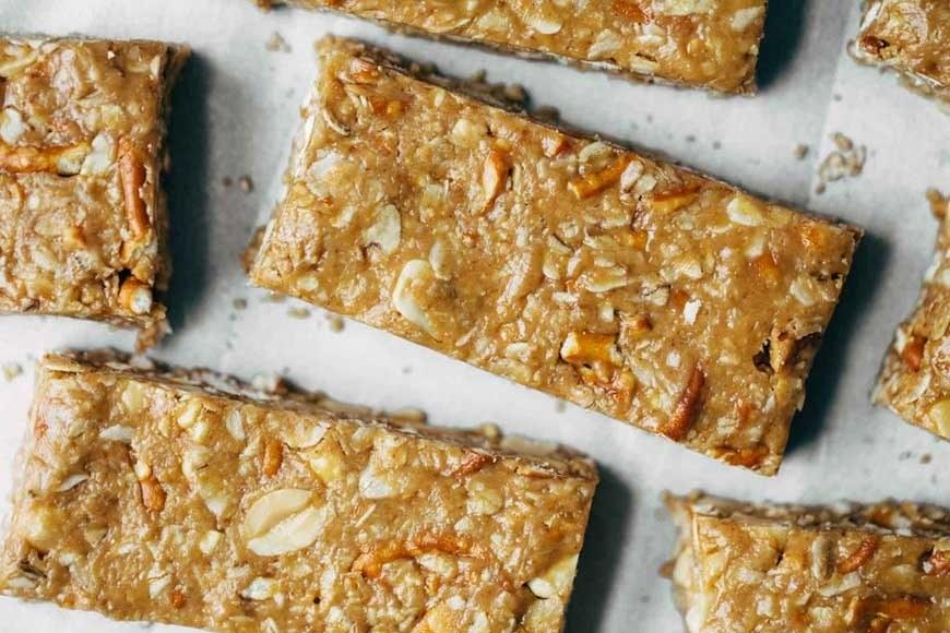 """<p>Perfect when you're in the mood for a satisfying granola bar but don't want something too crunchy. Get the recipe <a rel=""""nofollow"""" href=""""http://pinchofyum.com/the-best-soft-granola-bars?mbid=synd_yahoofood"""">here</a>.</p>"""