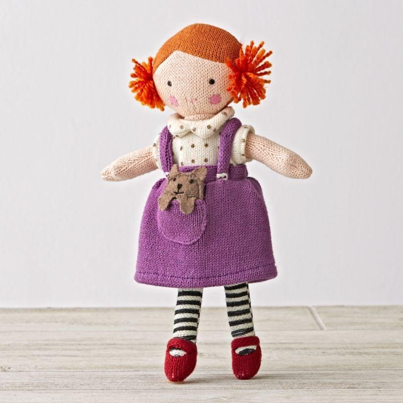 <p>Black, brown, and blonde hair can tend to be the norm with dolls, but this <span>Knit Crowd Toddler Doll</span> ($29) has red hair in adorable pigtails.</p>