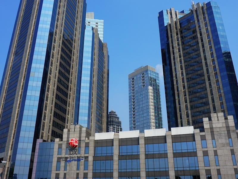 IDX building located in Sudirman central business district, south Jakarta Indonesia.