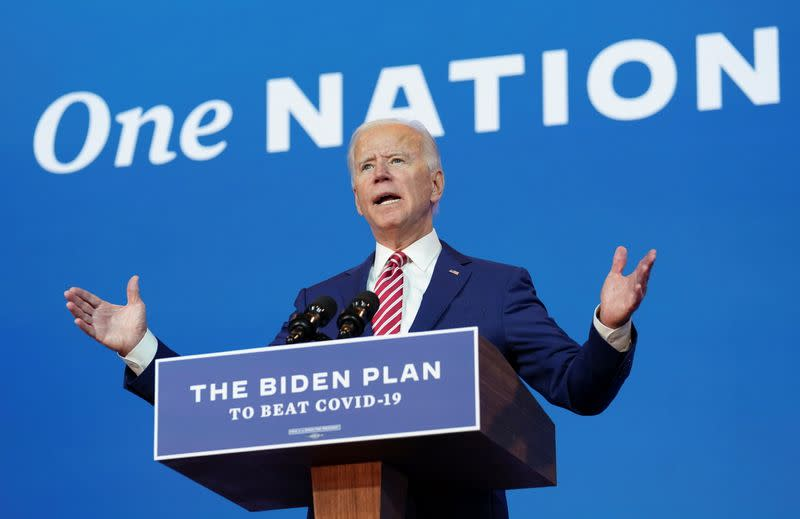 Joe Biden speaks about COVID-19 in Wilmington, Delaware