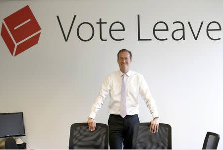 Head of Vote Leave, Matthew Elliott, poses for a photograph at the Vote Leave campaign headquarters in London, Britain May 19, 2016.  REUTERS/Peter Nicholls